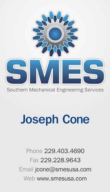 thumbnail of the SMES business card design